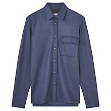 Buy Jigsaw Jersey Overshirt, Navy Online at johnlewis.com