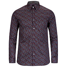Buy Ted Baker Britpop Paisley Print Shirt, Red Online at johnlewis.com