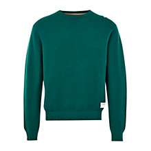 Buy HYMN Emin Textured Knit Jumper, Green Online at johnlewis.com