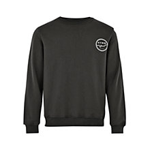Buy HYMN John Logo Print Long Sleeve Jersey Top, Charcoal Online at johnlewis.com