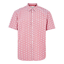 Buy HYMN Blackpool Rock Print Short Sleeve Shirt, Red/White Online at johnlewis.com