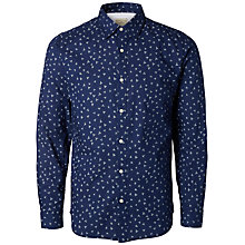 Buy Selected Homme Vic Print Shirt, Blue Online at johnlewis.com