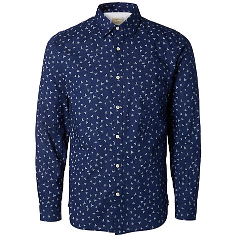 Buy Selected Homme Vic Print Shirt Blue John Lewis