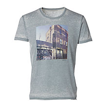 Buy Selected Homme London Shoreditch Graphic T-Shirt, Lead Online at johnlewis.com