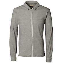 Buy Selected Homme Theo Full Zip Top, Grey Melange Online at johnlewis.com