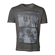 Buy Selected Homme Brixton T-shirt, Pirate Black Online at johnlewis.com