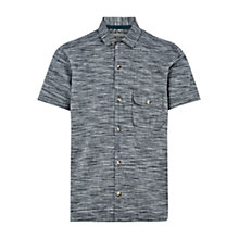 Buy HYMN Tress Space Dye Stripe Short Sleeve Shirt, Grey Online at johnlewis.com