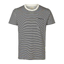 Buy Selected Homme Liam Stripe T-shirt, Sapphire/Marshmallow Online at johnlewis.com