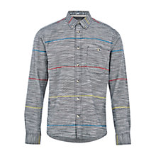 Buy HYMN Hubert Stripe Long Sleeve Shirt, Grey Online at johnlewis.com