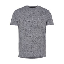 Buy HYMN Wyburn Jaspe Abstract Repeat T-Shirt, Grey/Black Online at johnlewis.com