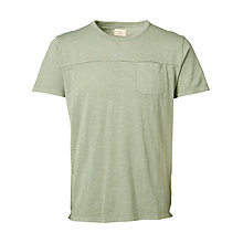 Buy Selected Homme Marius Pocket T-Shirt, Sea Spray Online at johnlewis.com