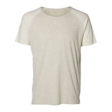 Buy Selected Homme Joey Crew Neck T-Shirt, Marshmallow Online at johnlewis.com