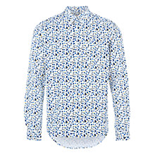 Buy HYMN Bacon Paint Print Long Sleeve Shirt, White/Blue Online at johnlewis.com
