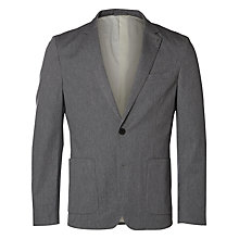 Buy Selected Homme Caleb Tailored Blazer, Grey Melange Online at johnlewis.com