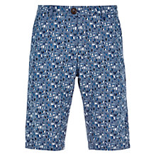 Buy HYMN Allington All Over Print Shorts, Indigo Online at johnlewis.com