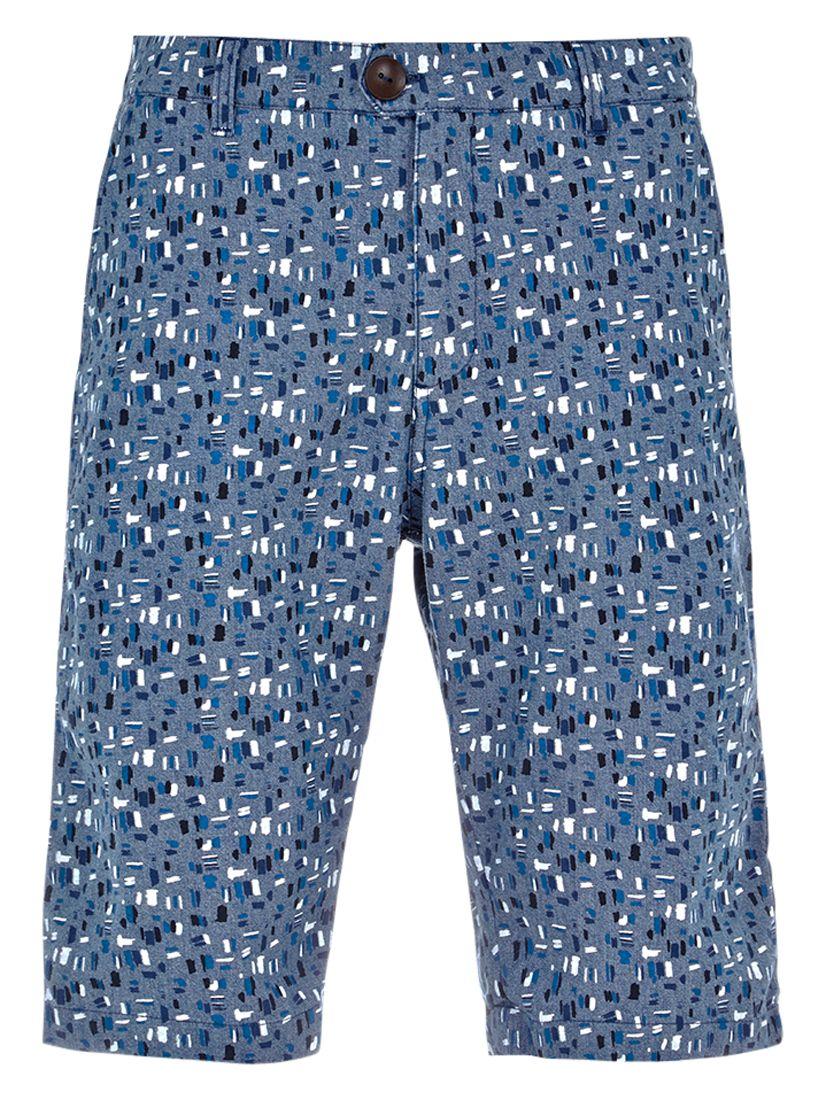 HYMN HYMN Allington All Over Print Shorts, Indigo