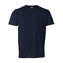 Buy Selected Homme Jonas Contrast Pocket T-Shirt, Dark Sapphire Online at johnlewis.com