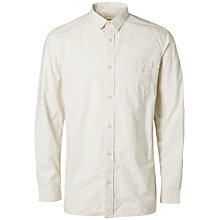 Buy Selected Homme Two Daran Shirt, Marshmallow Online at johnlewis.com