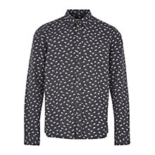Buy HYMN Hutton Spray Can Print Shirt, Black Online at johnlewis.com