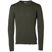 Buy Selected Homme Half Dan Jumper, Gun Metal Online at johnlewis.com