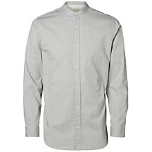 Buy Selected Homme Paiden Grandad Collar Shirt, Moonless Nights Online at johnlewis.com