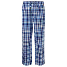 Buy Polo Ralph Lauren Check Woven Cotton Pyjama Trousers, Blue Online at johnlewis.com