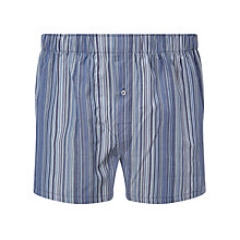 Buy Paul Smith Classic Stripe Woven Cotton Boxers Online at johnlewis.com