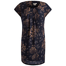 Buy Celuu Phoebe Floral Print Cocoon Dress, Grey Online at johnlewis.com