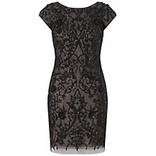 Buy Aidan Mattox Beaded Scoop Back Dress, Black Online at johnlewis.com