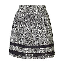 Buy Fat Face Matilda Craft Floral Skirt, Phantom Online at johnlewis.com