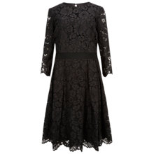 Buy Ted Baker Ameeya Lace Skater Dress, Black Online at johnlewis.com