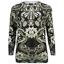 Buy Ted Baker Elizar Precious Snakes Metallic Knit Jumper, Mid Blue Online at johnlewis.com