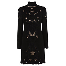 Buy Karen Millen Floral Cutwork Mini Dress, Black Online at johnlewis.com