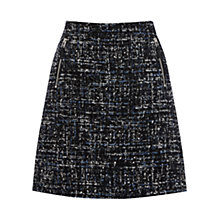 Buy Warehouse Sequin Tweed Zip Pocket Skirt, Blue Pattern Online at johnlewis.com
