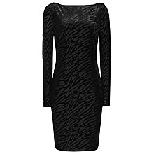 Buy Reiss Perrin Burnout Bodycon Dress, Black Online at johnlewis.com