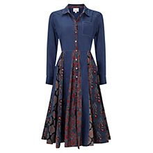 Buy East Salma Flared Shirt Dress, Ink Online at johnlewis.com