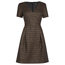 Buy Oasis Sparkle Tweed Dress, Multi Gold Online at johnlewis.com