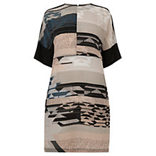Buy Warehouse Tapestry Landscape Dress, Multi Online at johnlewis.com