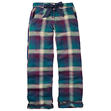 Buy Fat Face Herringbone Check Pyjama Bottoms, Nightshade Online at johnlewis.com