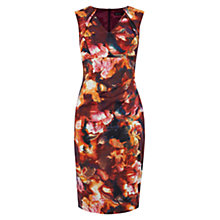 Buy Karen Millen Blurred Print Pencil Dress, Red Online at johnlewis.com