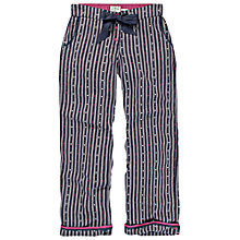 Buy Fat Face Heart Striped Pyjama Bottoms, Twilight Online at johnlewis.com