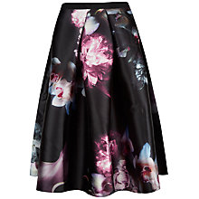 Buy Ted Baker Patreis Ethereal Posie Full Skirt, Black Online at johnlewis.com
