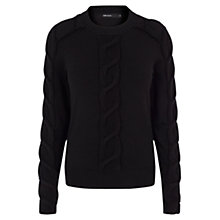 Buy Karen Millen Merino Blend Cable Jumper Online at johnlewis.com