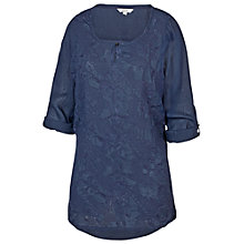 Buy Fat Face Sienna Embroidered Longline Top Online at johnlewis.com
