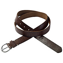 Buy Fat Face Daisy Embossed Leather Belt, Brown Online at johnlewis.com
