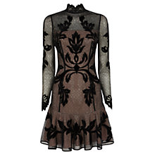 Buy Karen Millen Gothic Long Sleeve Dress, Black Online at johnlewis.com