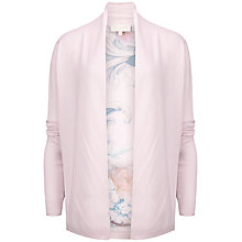 Buy Ted Baker Kacei Floral Panel Wrap Cardigan, Light Pink Online at johnlewis.com