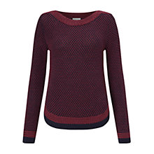 Buy East Texture Detail Jumper, Dark Red Online at johnlewis.com