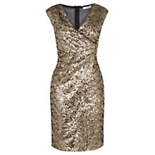 Buy Oasis Sequin Dress, Gold Online at johnlewis.com
