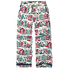 Buy Fat Face House Print Pyjama Trousers, Fresh Snow Online at johnlewis.com